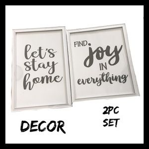 2Pc Home Decor Wall Art Set NIB